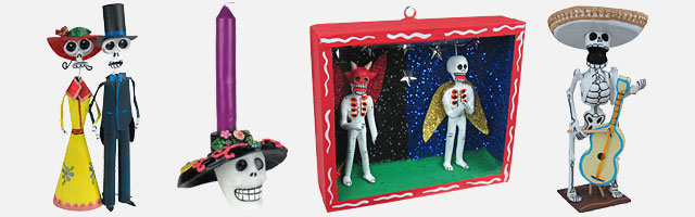 Mexican Day of the Dead Decorations and Folk Art