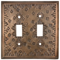 Mexican Double Switch Plate - Flower