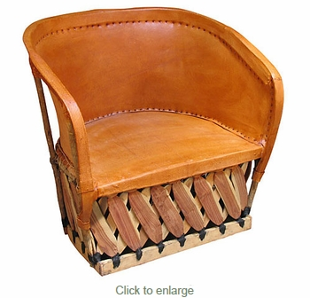 Mexican Equipal Lounge Chair