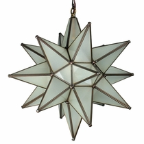 Mexican Frosted Glass Star Light 15""