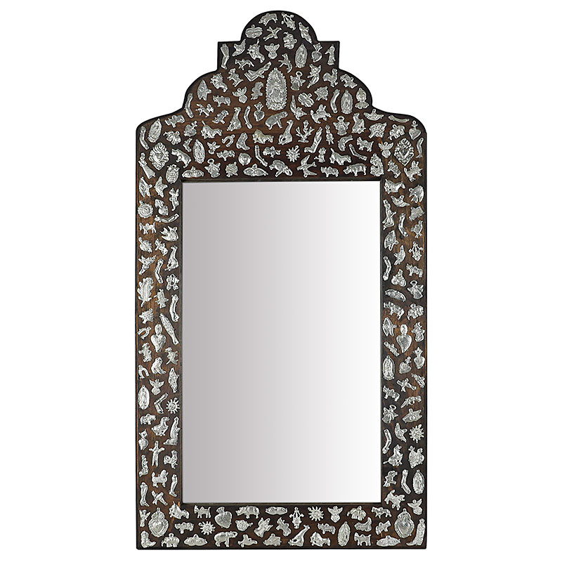 Mexican Milagro Mirror With Angel