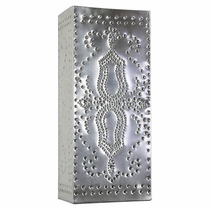 Mexican Natural Tin Slender Perforated Wall Sconce