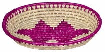 Mexican Hand Woven Palm Oval Bread Baskets - Set of 2