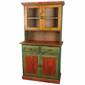 Mexican Painted Cupboard with Glass