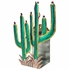 Mexican Painted Tin Saguaro Candle Sconce