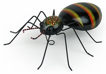 Mexican Painted Tin Spider Sculpture