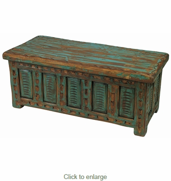 mexican painted furniturePainted Wood Etched Storage Trunk