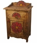 Mexican Painted Wood Flower Nightstand