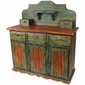 Mexican Painted Wood Hacienda Buffet
