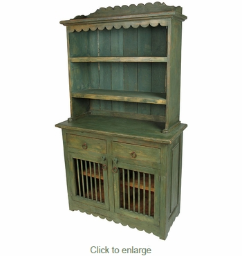 painted mexican furniturePainted Wood Kitchen Hutch