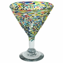 Mexican Confetti Pebbled Martini Glass - Set of 4