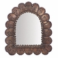 Mexican Punched Tin Arched Petal Mirror