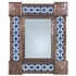 Mexican Punched Tin & Talavera Tile Mirror - 20