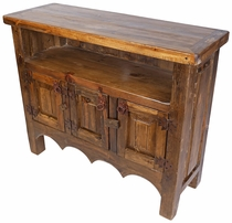 Mexican Rustic Wood Entertainment Credenza TV Stand