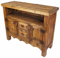Mexican Rustic Wood TV Stand Entertainment Console