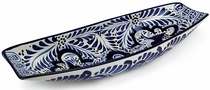Mexican Talavera Appetizer Boat - Blue & White