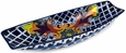 Mexican Talavera Appetizer Boat - Yellow Cross Pattern