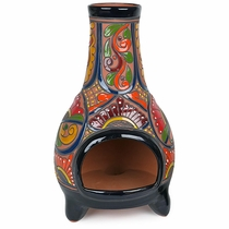"Mexican Talavera Chiminea - 19"" Tall"
