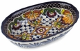 Mexican Talavera Dipping Bowl - Rosario Pattern