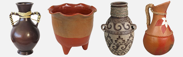 Mexican Terra Cotta Clay Pottery