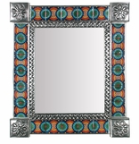 Mexican Tile Mirrors - Punched Tin with Talavera Tile