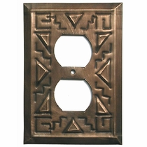 Mexican Tin Outlet Cover - Southwest Design