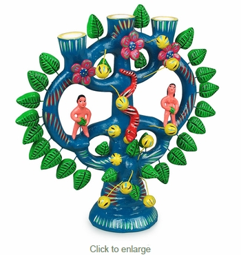 Mexican Tree of Life Candelabra