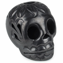 Mini Black Clay Skull