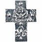 Mini Fat Floral Pewter Cross