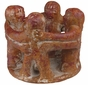 Mini Pre-Columbian Dancers or Circle of Friends Candleholder