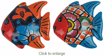 Mini Talavera Angelfish  - Set of 2