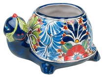 Mini Tortoise Flower Pot - Talavera Ceramic