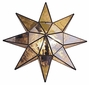 Mirrored Star Wall Light Fixture