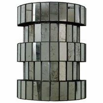 Modern Antiqued Mirror Wall Sconce