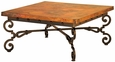 Monica Iron Base Coffee Table with Copper Top