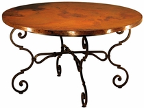 Monica Round Dining Table with Copper Top