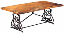 Monte Cristo Dining Table with Copper Top