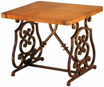 Monte Cristo Iron Base End Table with Copper Top