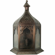 Moroccan Style Wall Sconce with Bubble Glass