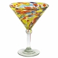 Multi Color Confetti Martini Glass - Set of 4