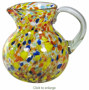 Multi-Color Confetti Mexican Water Pitcher