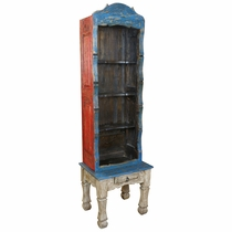 Multi-color Painted Wood Bookcase
