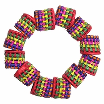 Multi Color Palm Napkin Rings - Set of 12