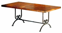 Naples Iron Base Copper Top Dining Table
