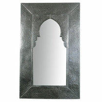 Natural Hammered Tin Window Mirror