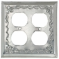 Natural Mexican Tin Double Outlet Cover - Star