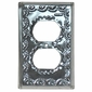 Natural Punched Tin Decorative Outlet Cover
