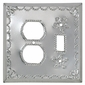 Natural Punched Tin Switch Outlet Cover - Star
