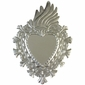 Natural Tin Fiery Heart Mirror