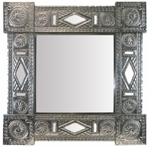 Natural Tin Square Chinese Mirror